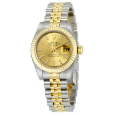 Rolex Lady Datejust 26 Gold Dial Stainless Steel and 18K Yellow Gold Jubilee