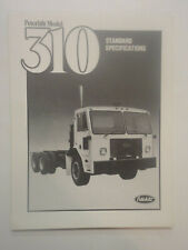 1980 Peterbilt Model 310 Standard Specifications Brochure