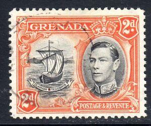 GRENADA    1938-50   sg 152      2d  value      perf   12 1/2     used