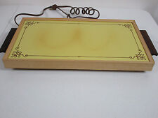 Vintage Electric Hot Tray Plate By Cornwall In Original Box Harvest Gold