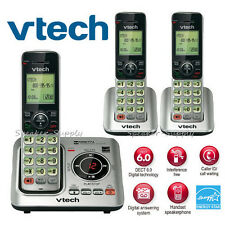 Vtech DECT 6.0 3 Cordless Handset Home Telephone Phone System ID CS6629-3