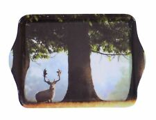 STAG UNDER LARGE TREE COUNTRYSIDE TRINKET TRAY 21CM X 14CM