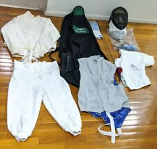 Sabre Fencing Kit Lot blade, blue gauntlet bag, shirt, pants, sword, helmet etc
