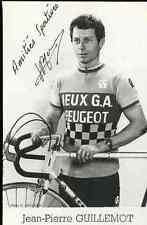 JEAN PIERRE GUILLEMOT Team PEUGEOT JEUX G.A Signed Autographe cycling cyclisme