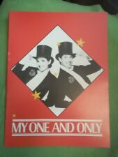 MY ONE AND ONLY, RARE 1983 Tour Program, Tommy Tune & Lucie Aranz