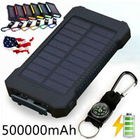 New Power Bank 500000mAh 2 USB Portable External Battery Huge Capacity Charger