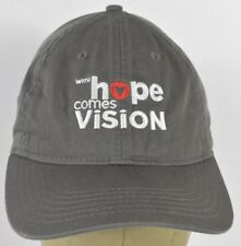 Gray With Hope Comes Vision Embroidered Baseball Hat Cap Adjustable Strap