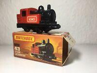 Matchbox Lesney in OVP Nr.43 Alte Spielzeug Lok Steam Loco Eisenbahn Rail Train