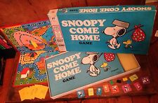 Snoopy Come Home! Peanuts Vintage Board Game 1966/1973 RARE MB Classic
