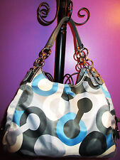 Coach Signature Mia Bias Op Art Madison Maggie Hobo Shoulder Bag Satchel 16021