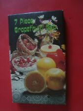 7 PIECE GRAPEFRUIT SET - STAINLESS STEEL (NEW AND UNUSED IN BOX)