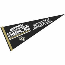 """UCF Knights 12"""" X 30"""" 2017 Undefeated Natonal Champions Pennant"""