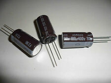 2 x 100uF 400V Nichicon High Reliability PZ Capacitor 105 degC Long Life NEW