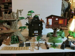 Large Playmobil Lot 9429 Dinosaur 5746 Tree House and More, No complete Sets