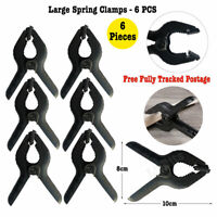 "Spring Plastic Clamp 4"" inch Clip Heavy Duty Quick Grip Craft Woodwork 6 Pieces"