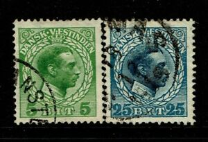 DWI SC# 51 and 55, Used, 51 sm pg rem, 55 some gum present on back - S12519