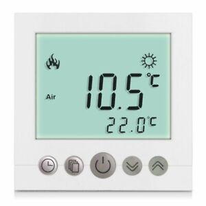 16A Digital Thermostat Raumthermostat Fußbodenheizung Wandheizung LED weiß DHL