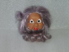 VINTAGE CUTE RUBBER TROLL DOLL, MADE IN GDR - EAST GERMANY