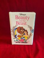 Disney BEAUTY AND THE BEAST Little Library 4-Board book set in slipcase 1992