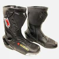 Suzuki Monster Motogp motorcycle boot Motorbike leather shoes