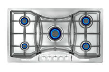 Empava 36 inch Gas Stove Cooktop 5 Italy Sabaf Burners Stainless Steel 36Gc888