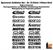 Motorsport Sponsoren Aufkleber Racing 20er Set für Motorrad Auto Decal #002