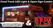 Ledupdates 25ft Food Truck Led Light + Open Sign Combo Kit + Ul Power Supply