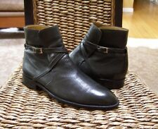 "Bally Mens Leather Chelsea Buckle Ankle Boots Size 8.5/7.5 EU  ""$675.00"""