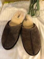 NWOB UGG MEN'S black  SCUFF  BROWN  SLIPPERS SIZE 9 #5776 (ugg100