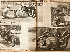 LO SPORT ILLUSTRATO N 48 1952 MOTOCICLISMO GARE SIDECAR LONGHI VESPA LAMBRETTA
