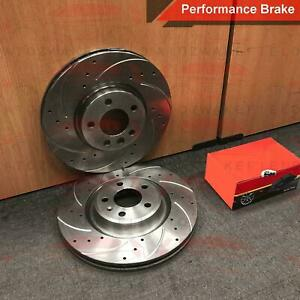 FOR ISUZU D MAX D-MAX 2.5 CRDi 12- FRONT DRILLED GROOVED BRAKE DISCS PADS 300mm