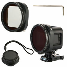 52mm CPL Filter+Lens Cap+Lens Adapter for Gopro Hero4 Session Polarizer LF715