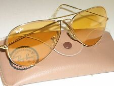 VINTAGE B&L RAY BAN L9535 ARISTA ALL WEATHER AMBERMATIC AVIATOR SUNGLASSES NMINT