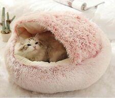 Cat Warm Soft Plush Bed Pet House Kennel Dog Cushion Cave Winter Sleeping Nest