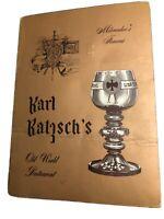 Vintage Karl Ratzsch's Luncheon Menu 1950's