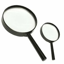 MAGNIFYING GLASS Round Home School Big Small Fine Optical Eye Reading Tool Glass
