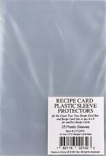 Recipe Card (4 x 6 or 3 x 5) New Plastic Sleeve Protectors, Meadowsweet Kitchens