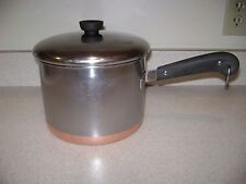 Rare Vintage Revere Ware 1801 Stainless Steel Copper 5 Qt Sauce Pan Pre 68 USA