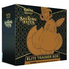 Caja De Entrenador Pokemon SHINING FATES ELITE Nuevo Sellado De Fábrica