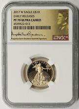 2017-W Gold Eagle $10 1/4 oz PF 70 UCAM NGC Early Releases Saint Gaudens Label