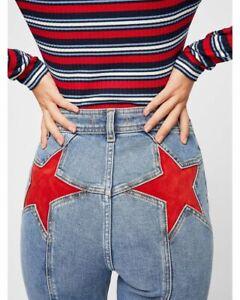 Free People Size 30 NWT Denim Firecracker Flare Star Jeans NEW