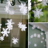3M SNOWFLAKE GARLAND FROZEN WINTER WONDERLAND CHRISTMAS PARTY DECORATION