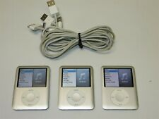 Lot of 3 Silver Apple iPod Nano Fat (3rd Gen) 4Gb Mp3 Players A1236 ~ Working