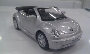 2003 vw Volkswagen new Beetle cabrio silver kinsmart TOY car model 1/32 scale