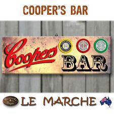 COOPERS BAR Rustic Wooden BAR Plaque / Sign (FREE POST) Cooper's