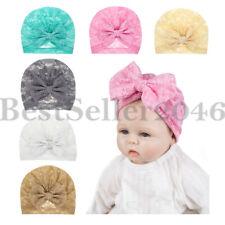 6pcs Toddler Baby Girls Big Bow Knot Headband Lace Hairband Turban Head Wrap Set
