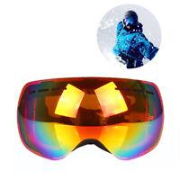 Frameless Snowboard Snowmobile Ski Goggles Anti Fog UV 400 Double Layer Sightly