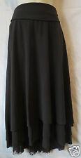 NWT NEW Cabi S skirt dark brown layered fold over #209