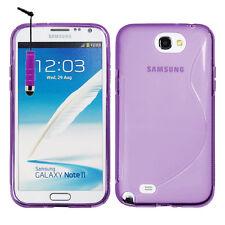 Accessories Covers Case Gel TPU S Stylus Purple II Samsung Galaxy Note 2 N7100