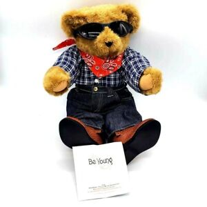 """"""" Be Young """" Vermont Teddy Bear RARE Country Lovin Cowboy Farmer Sunglasses"""